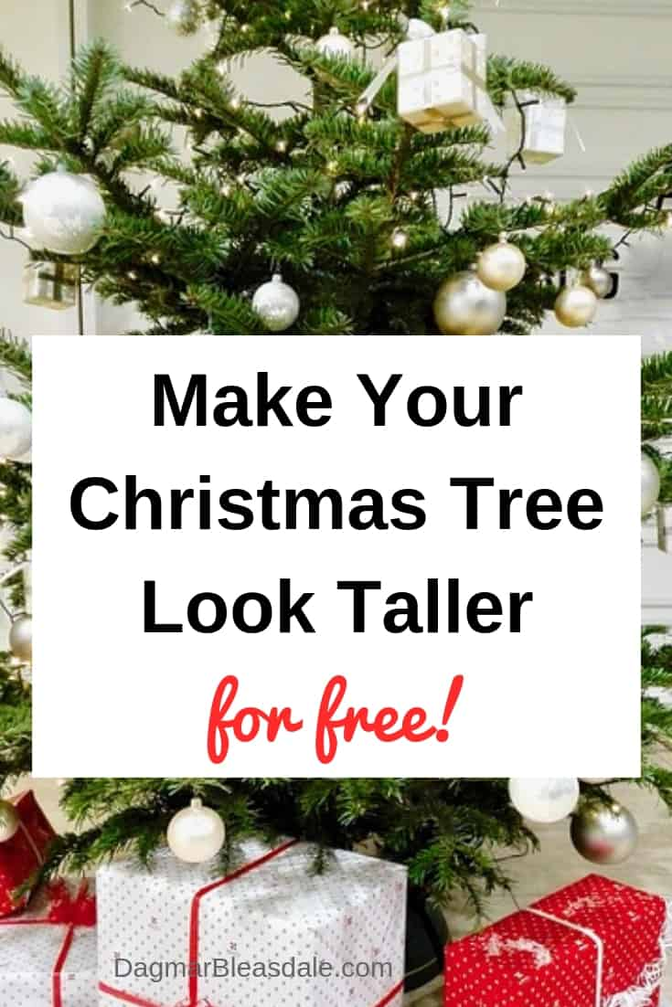 How to make Christmas tree taller and fuller