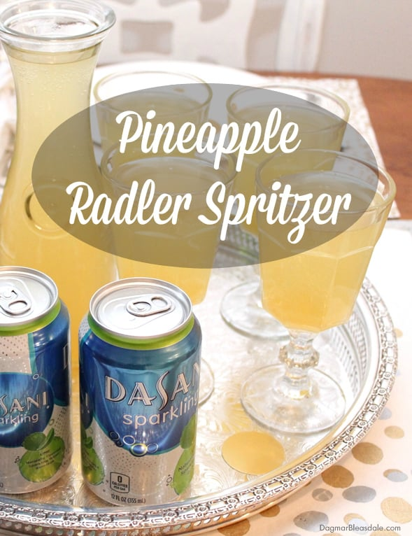 pineapple radler spritzer drink for New Year's Eve