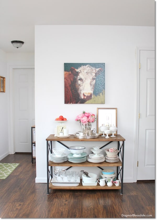 $60 Rustic Farmhouse Console Table For Our Kitchen