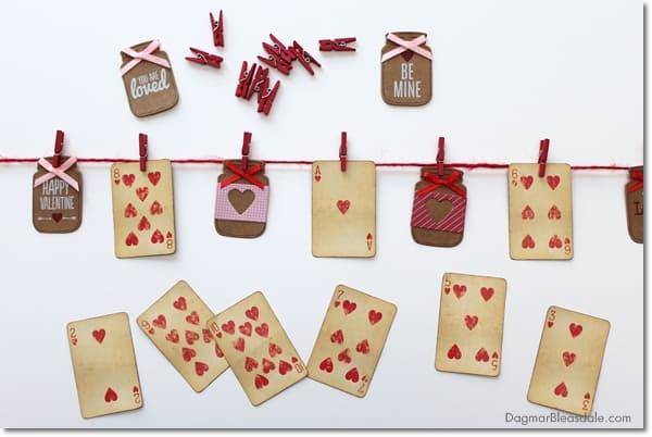 easy DIY Valentine's Day banner, DagmarBleasdale.com