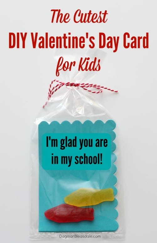 Valentine for kids, I'm glad you are in my school with Swedish fish