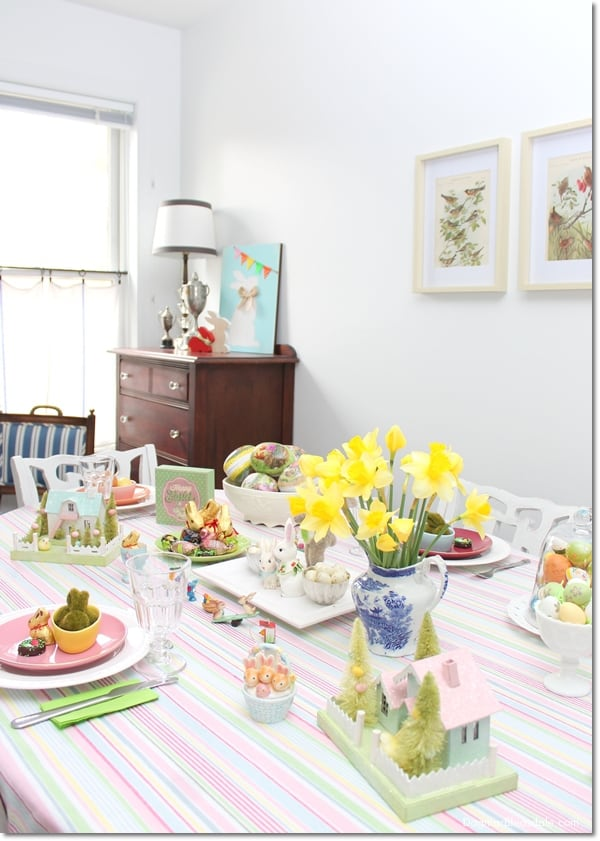 Last-Minute Pastel Easter Decor for Our Blue Cottage