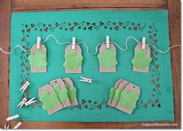 St. Patrick's Day banner, easy DIY tutorial