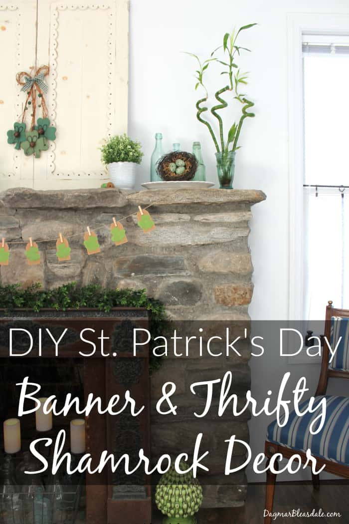 St. Patrick's Day Decor, Crafts and Food Roundup, Shamrock banner