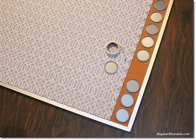 easy pinboard makeover, upcycling DIY project
