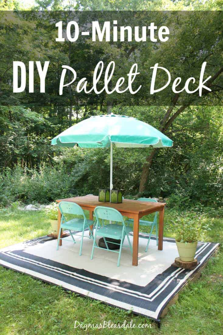 DIY pallet deck that took 10 minutes to built!