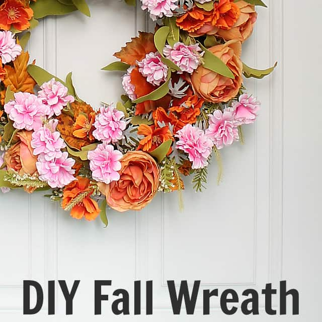Make a DIY Fall Wreath out of a Spring Wreath