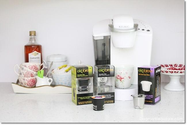Eco-friendly EkoBrew Filter alternative to K-Cups for Keurig machine