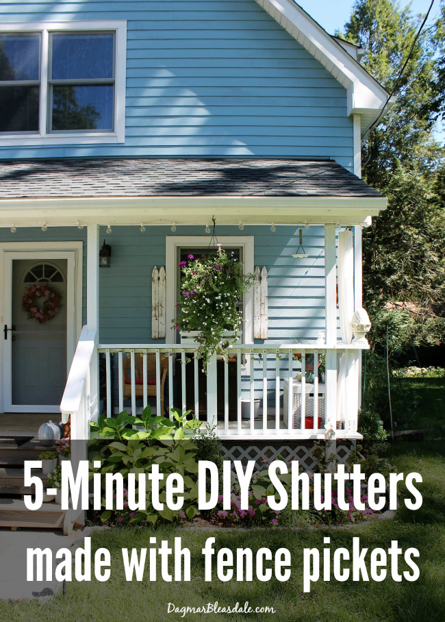 DIY Shutters Made Out of Fence Pickets, DagmarBleasdale.com