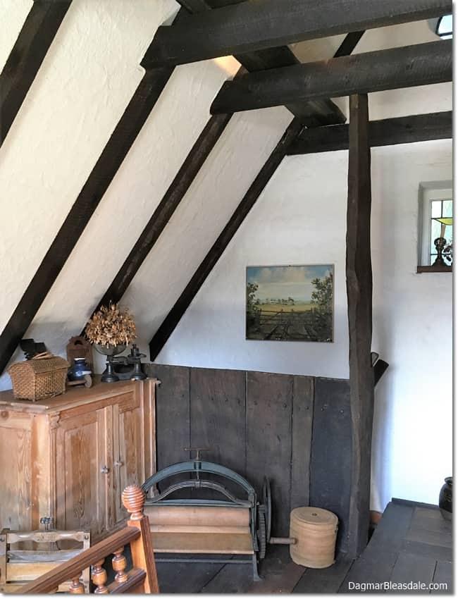 Antique kitchen in vintage cottage tiny house, DagmarBleasdale.com