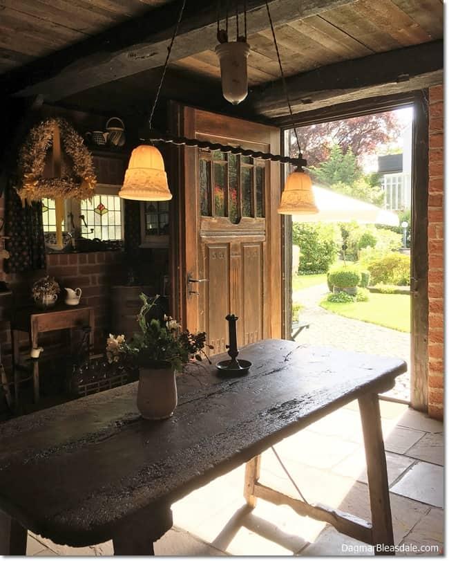 vintage tiny house kitchen