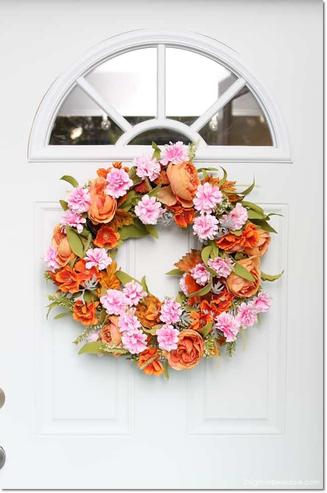 easy DIY fall wreath, DagmarBleasdale.com