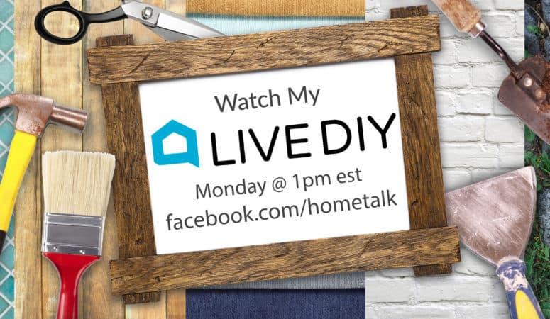 I'm Hosting Hometalk LIVE – Centerpiece With a Pie Tin