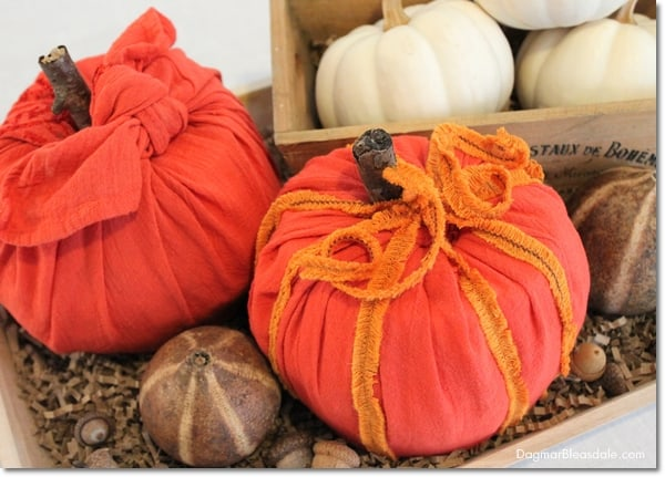 DIY toilet paper roll pumpkins, DagmarBleasdale.com