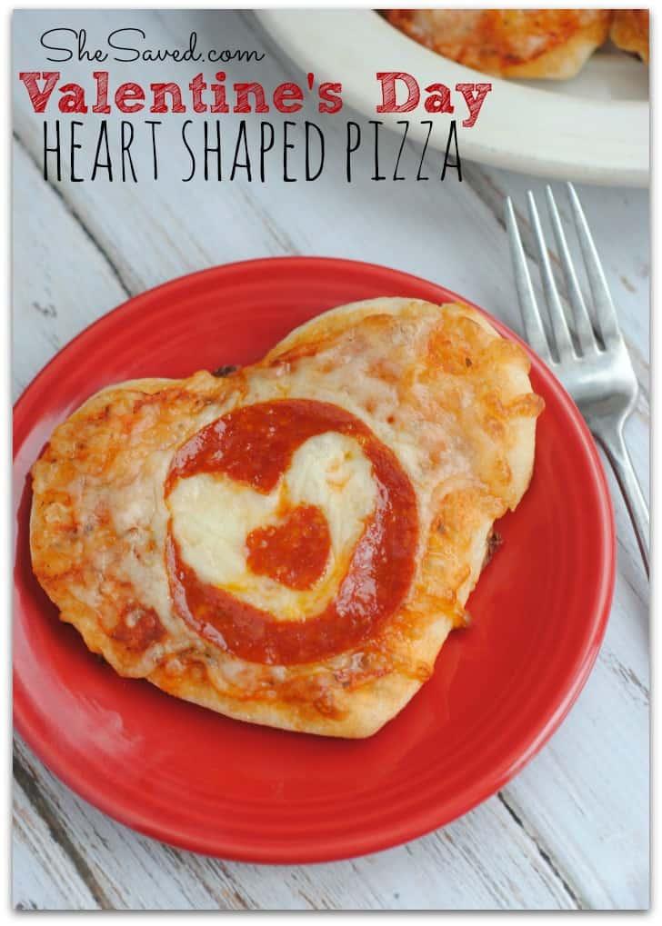 heart-shaped pizza,