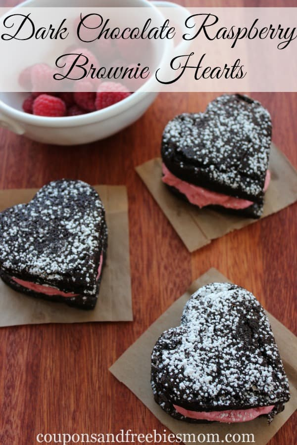 Dark chocolate and raspberry? Yes, please! Heart-shaped brownies will bring extra brownie points this Valentine's Day!