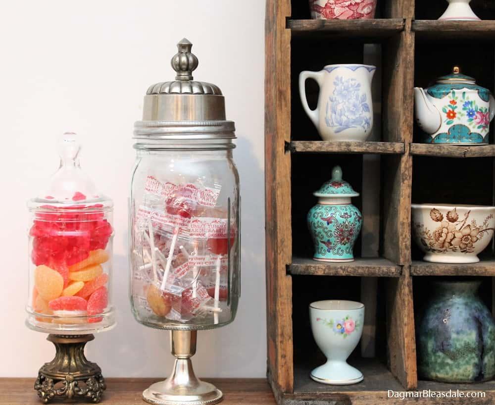 Dagmar's Home Link Party, apothecary jar, DagmarBleasdale.com