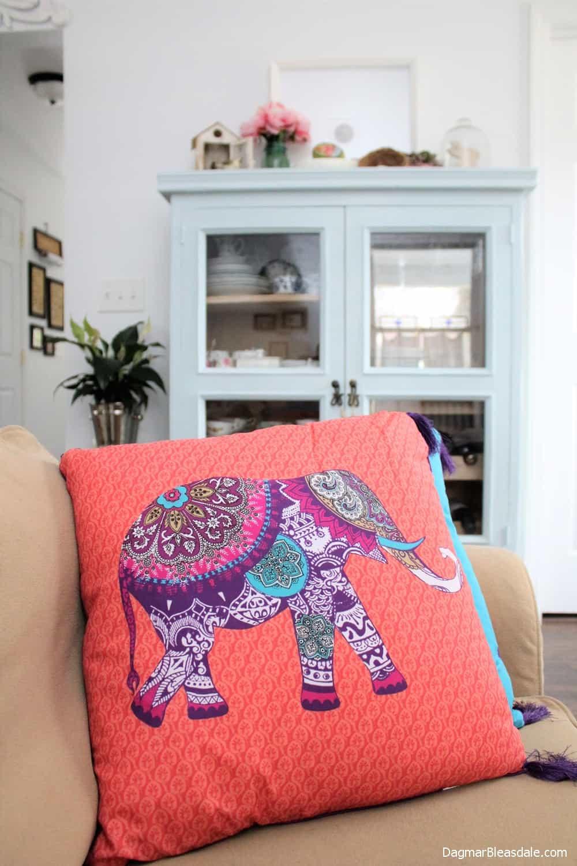 Primark Elephant pillow, DagmarBleasdale.com