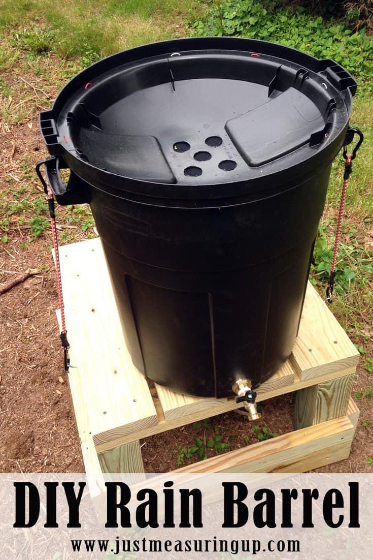 DIY Rain Barrel, a simple DIY project for the rainy days of springtime.