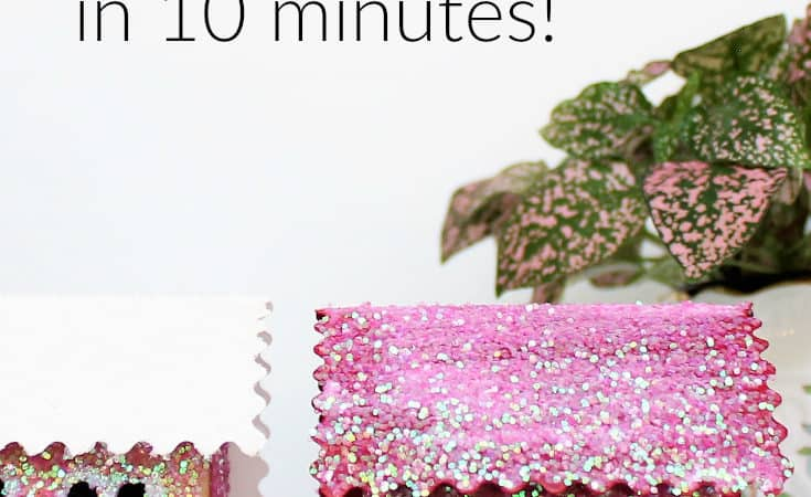 DIY Glitter House Made With an Upcycled Toothpaste Box