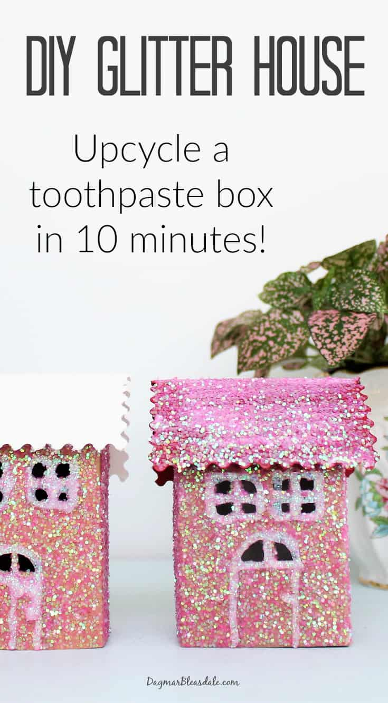 DIY glitter house tutorial