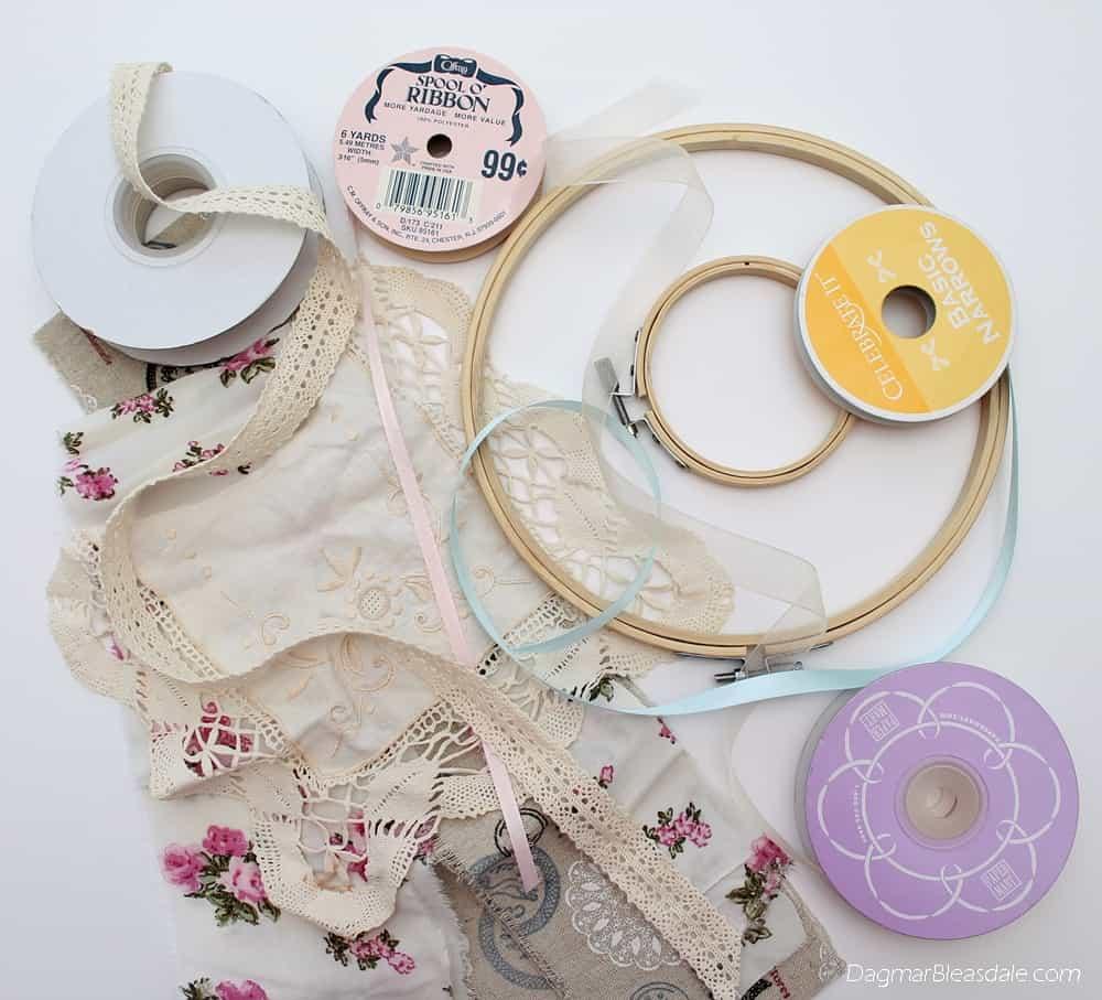 supplies for DIY dreamcatcher, DagmarBleasdale.com