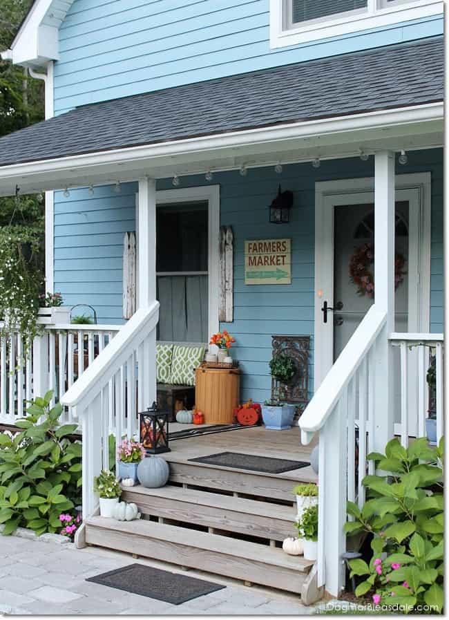 Blue Cottage porch, DagmarBleasdale.com