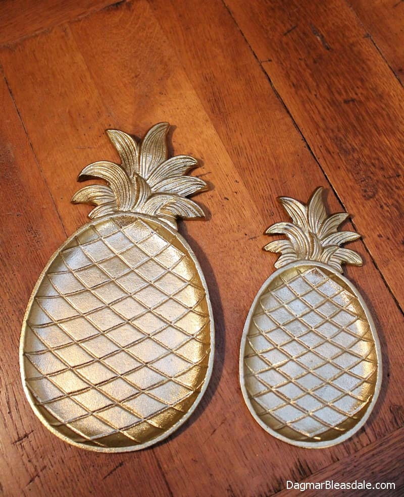 Gold Pineapple Tray, DagmarBleasdale.com