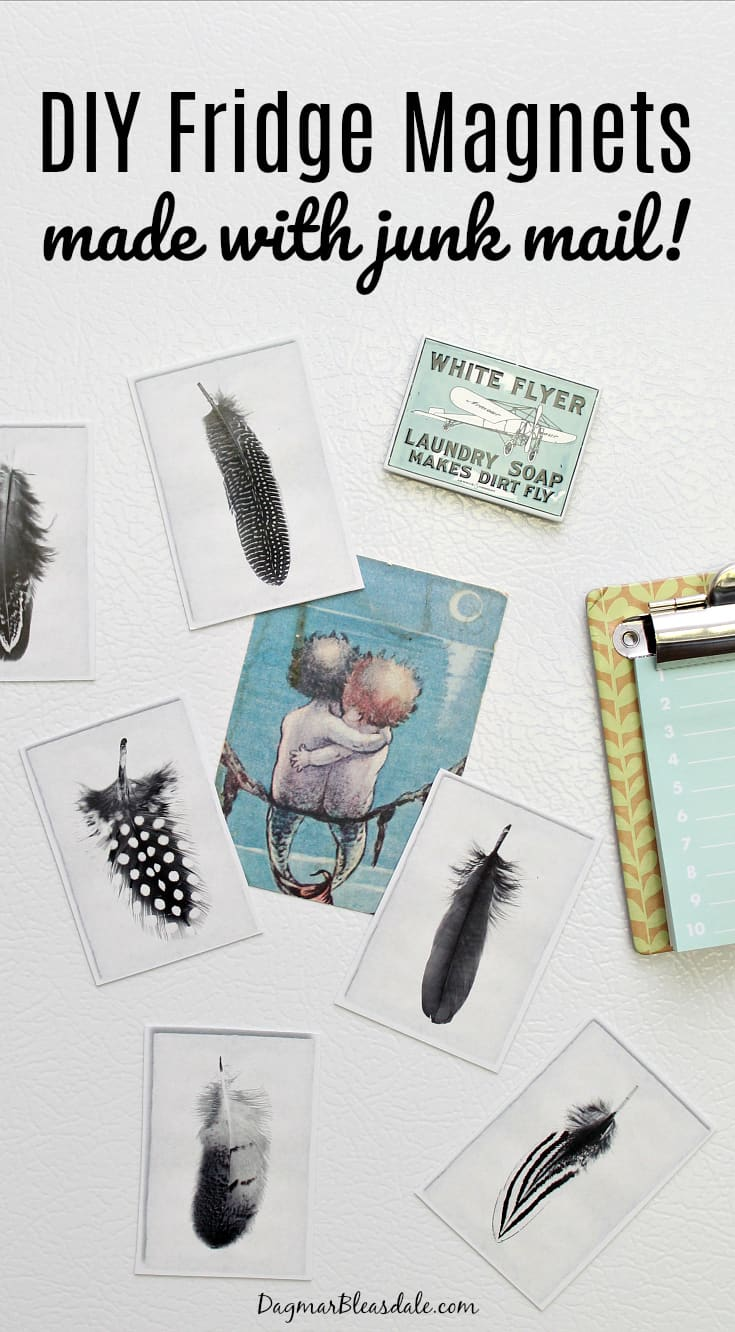 fridge magnets made with junk mail, DagmarBleasdale.com