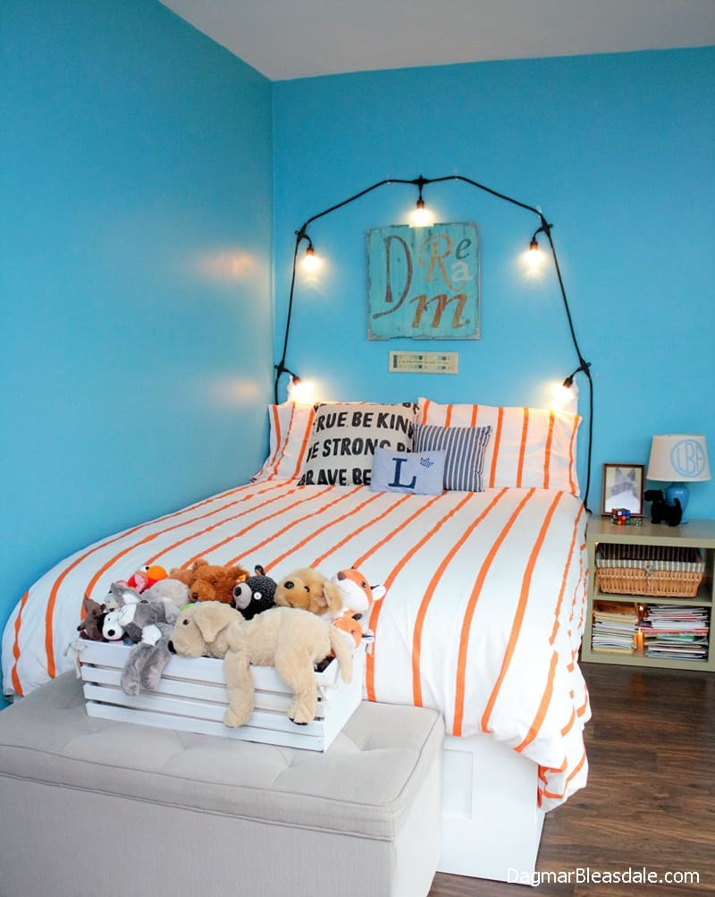 Turquoise Tween Boys Bedroom Update on a Budget, DagmarBleasdale.com