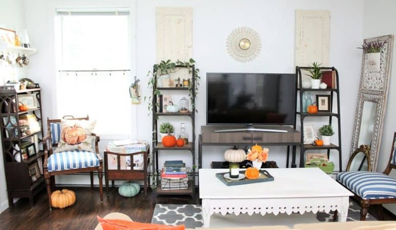 Blue Cottage Fall Home Tour