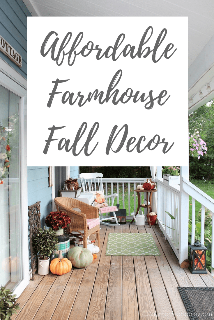 fall home tour, frugal farmhouse decor