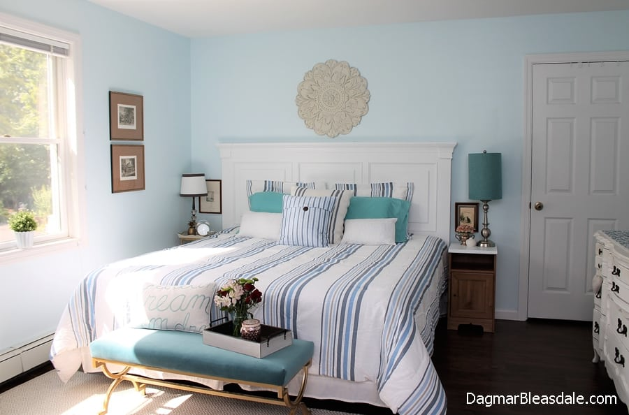 light blue bedroom, DagmarBleasdale.com