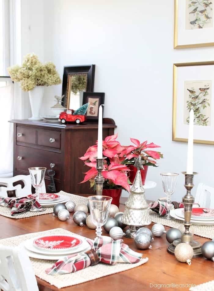 metallic tablescape with boscovs holiday decor - Boscovs Christmas Decorations