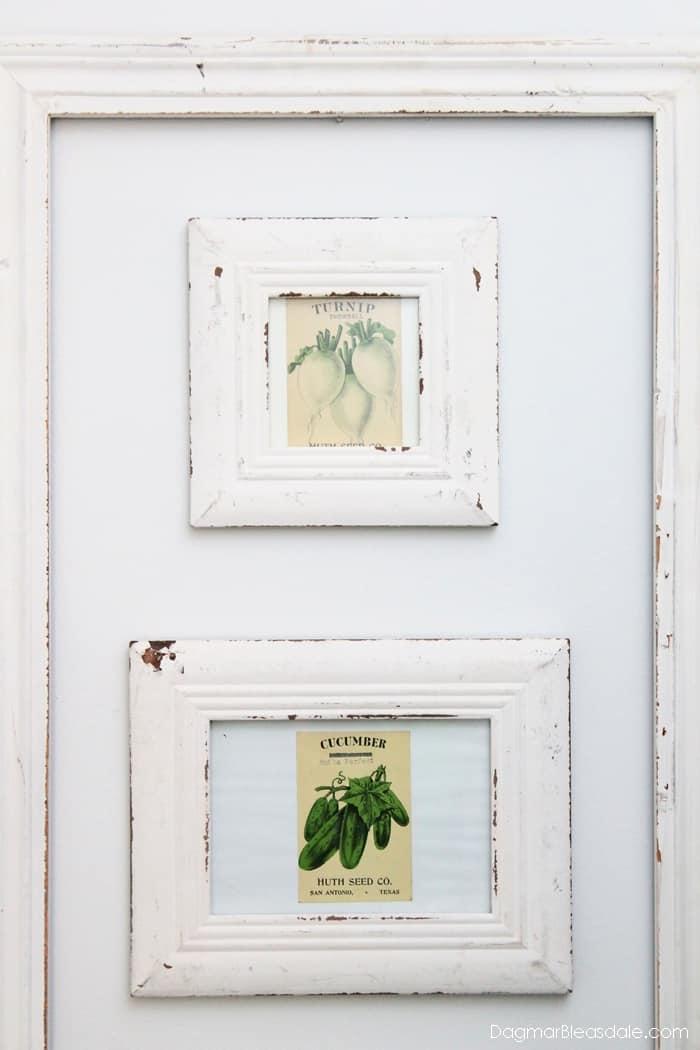 Framed vintage seed packet