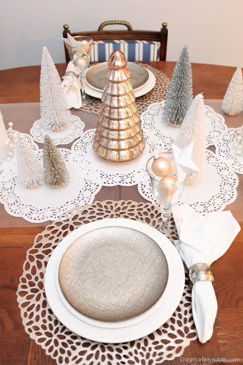 Bottle Brush Tree Tablescape, DagmarBleasdale.com