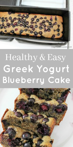 Greek yogurt blueberry cake