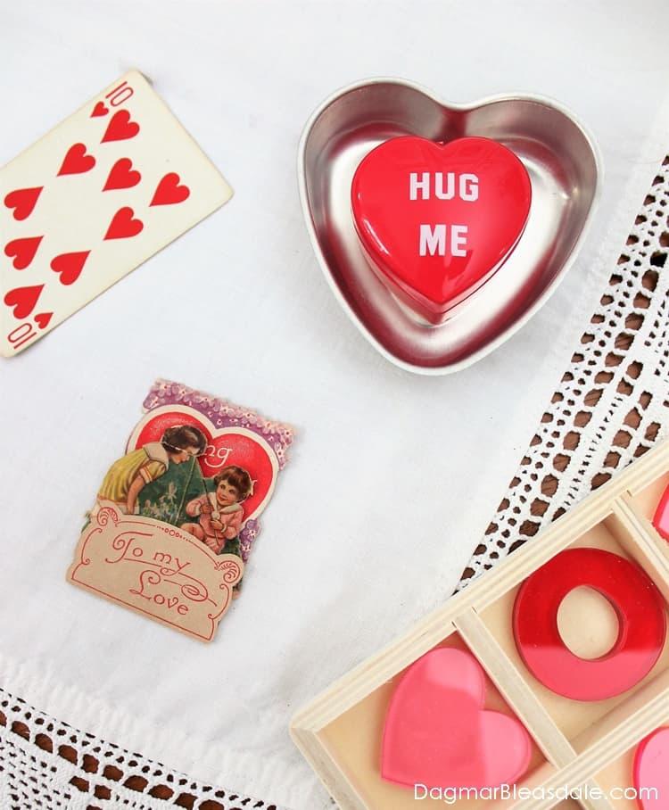 vintage heart jello molds