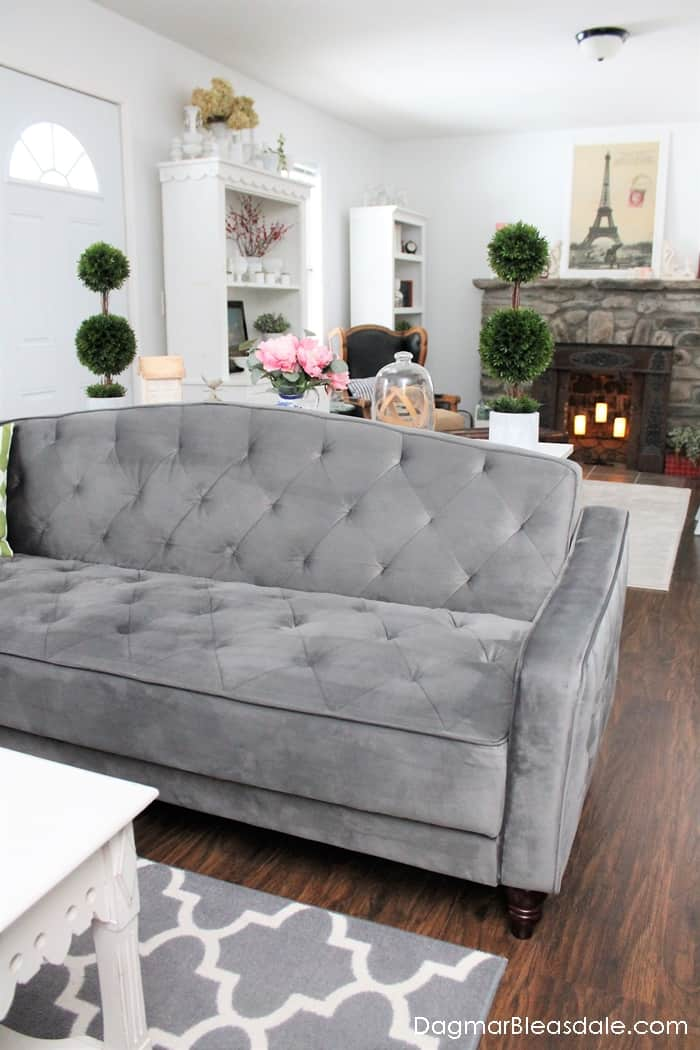 Sleeper sofa with a vintage look under $500
