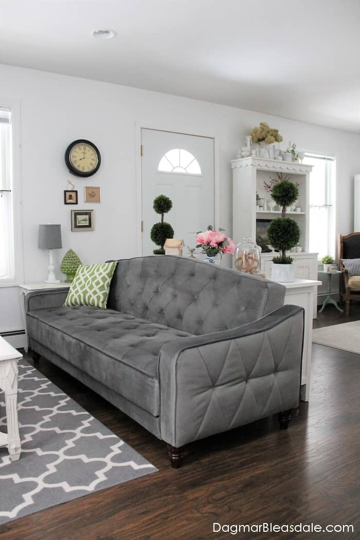 Sleeper sofa with a vintage look under $500, Novogratz Vintage Tufted Sleeper Sofa by DHP Furniture