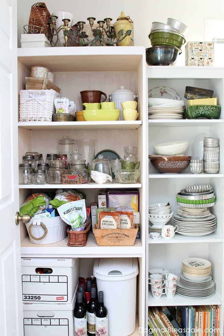Add Extra Pantry Storage Space, pantry makeover with bookhelf