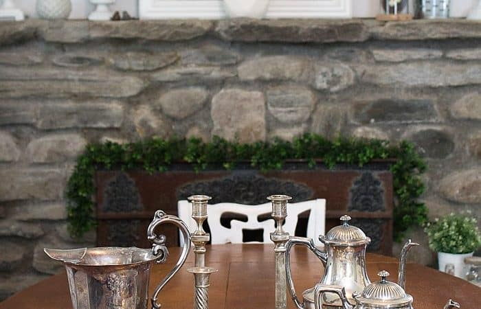 Hanging Herb Garden Idea, My Vintage Silver Haul & Link Party #210