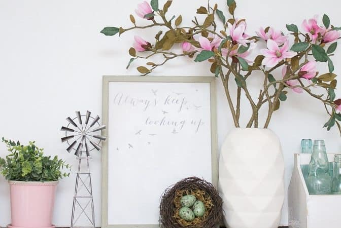 Inexpensive Wall Art, Cheesy Asparagus & Link Party #212