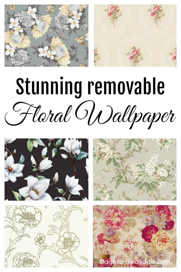 Floral wallpaper, peel and stick and removable