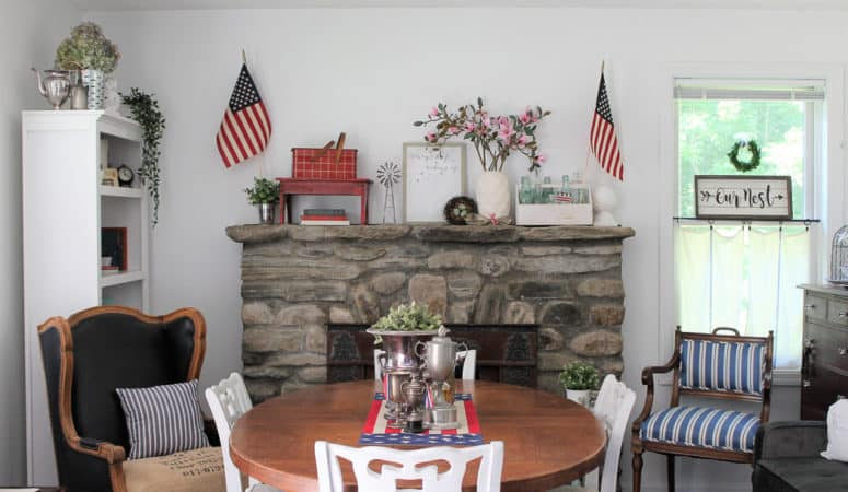 Patriotic Decor in Our Blue Cottage