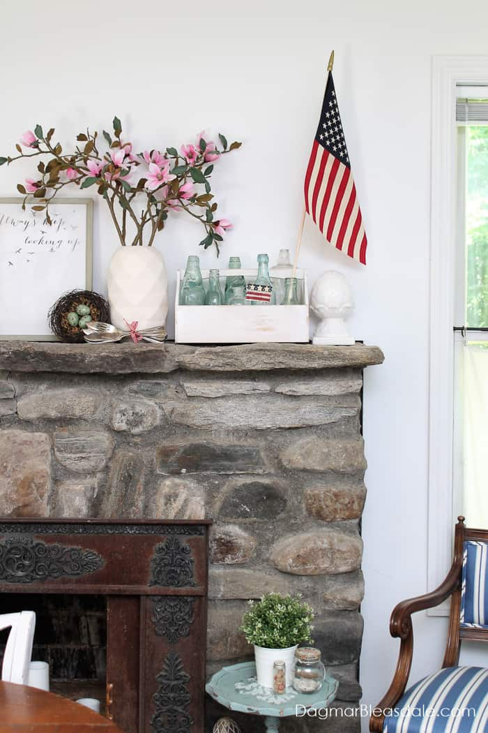 Patriotic Decor In Our Blue Cottage Dagmar S Home