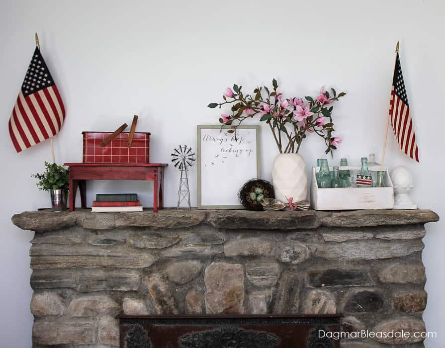 patriotic decor farmhouse style Fourth of July