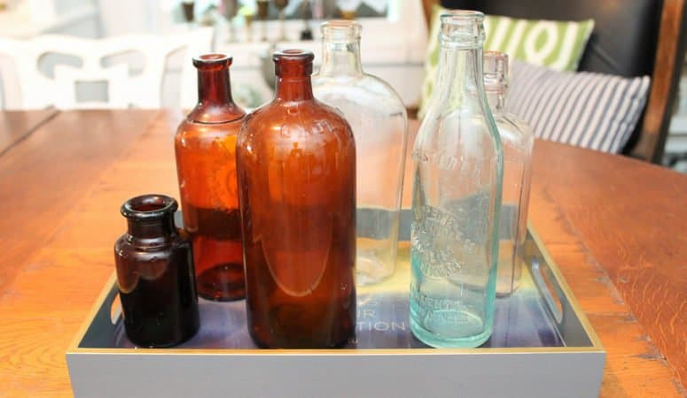 Vintage Amber Glass Bottles & Link Party #293