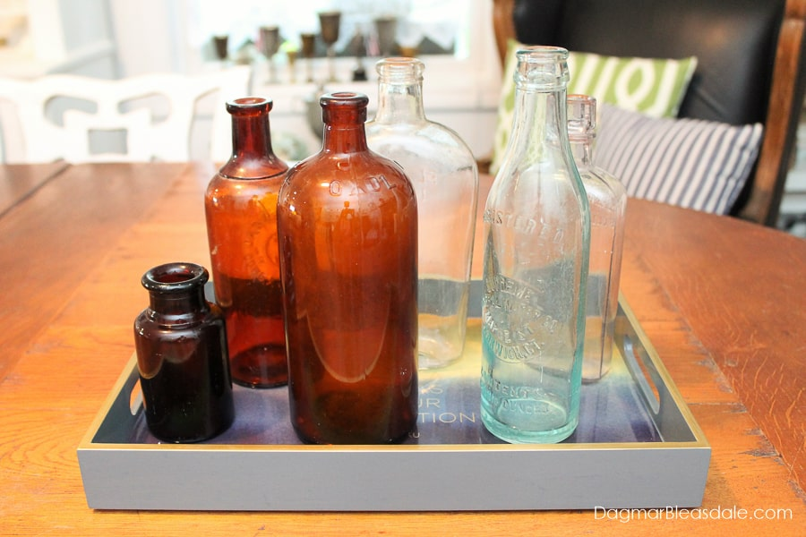 glass bottles - amber bottles