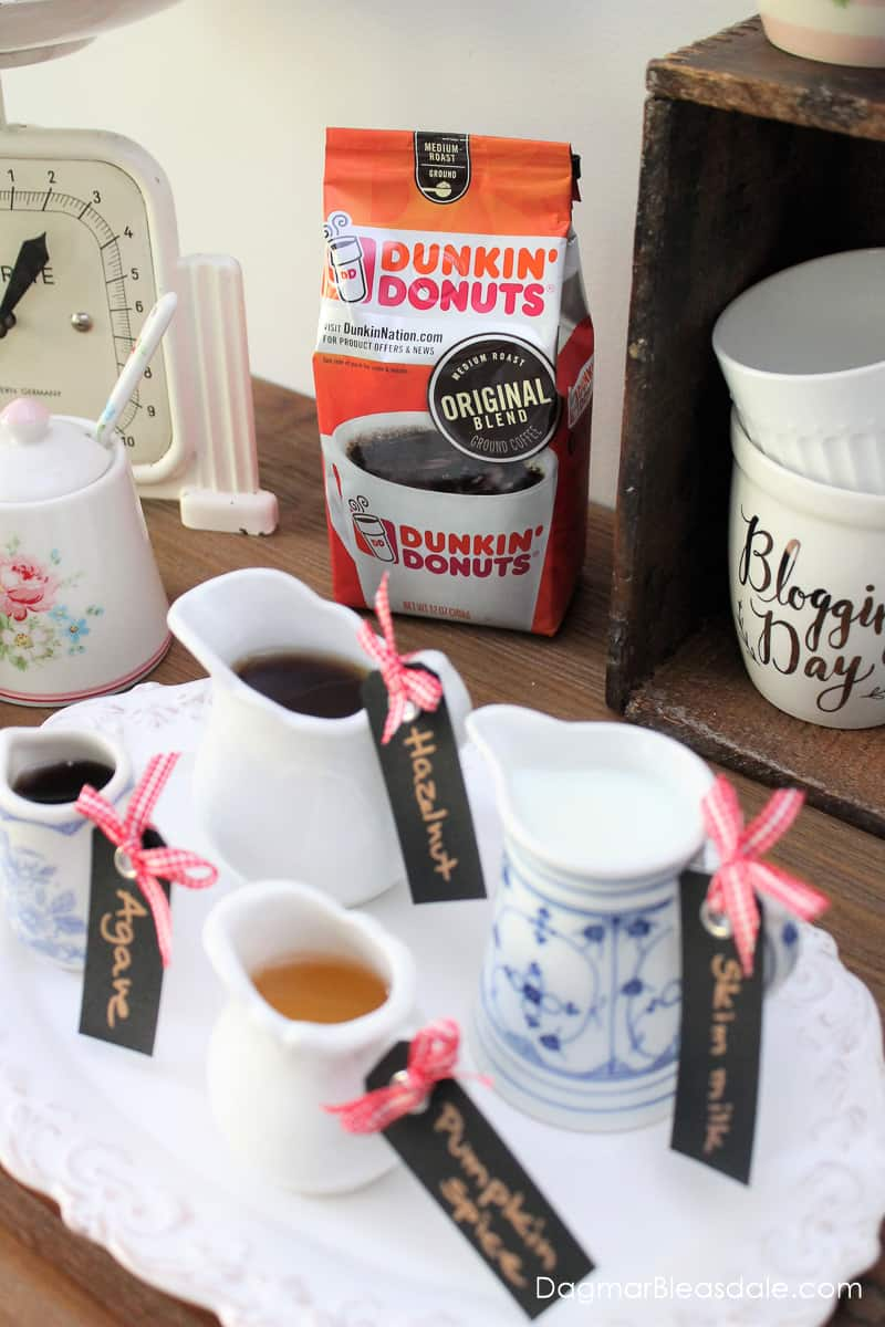 coffee bar with Dunkin' Donuts coffee